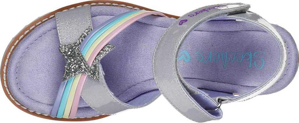 Girls' Skechers Desert Kiss Rainbow Spark Wedge Sandal, Lavender, large, image 4