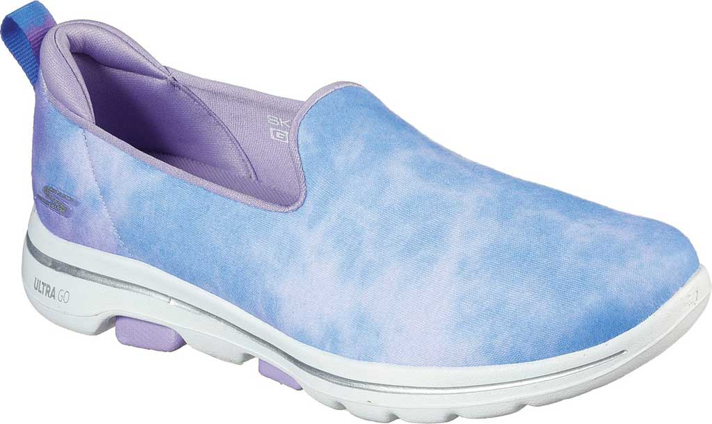 Women's Skechers GOwalk 5 Chroma Slip-On, Purple/Multi, large, image 1