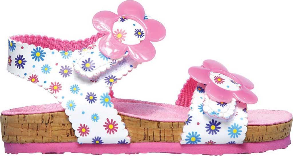 Infant Girls' Skechers Granola Wild Daisy Ankle Strap Sandal, White/Multi, large, image 2