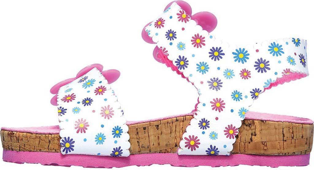 Infant Girls' Skechers Granola Wild Daisy Ankle Strap Sandal, White/Multi, large, image 3