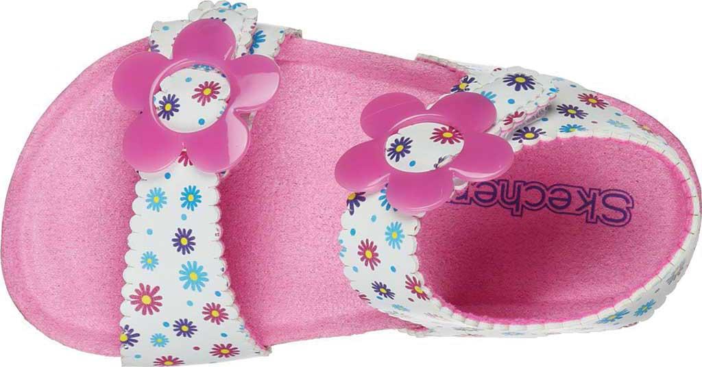Infant Girls' Skechers Granola Wild Daisy Ankle Strap Sandal, White/Multi, large, image 4