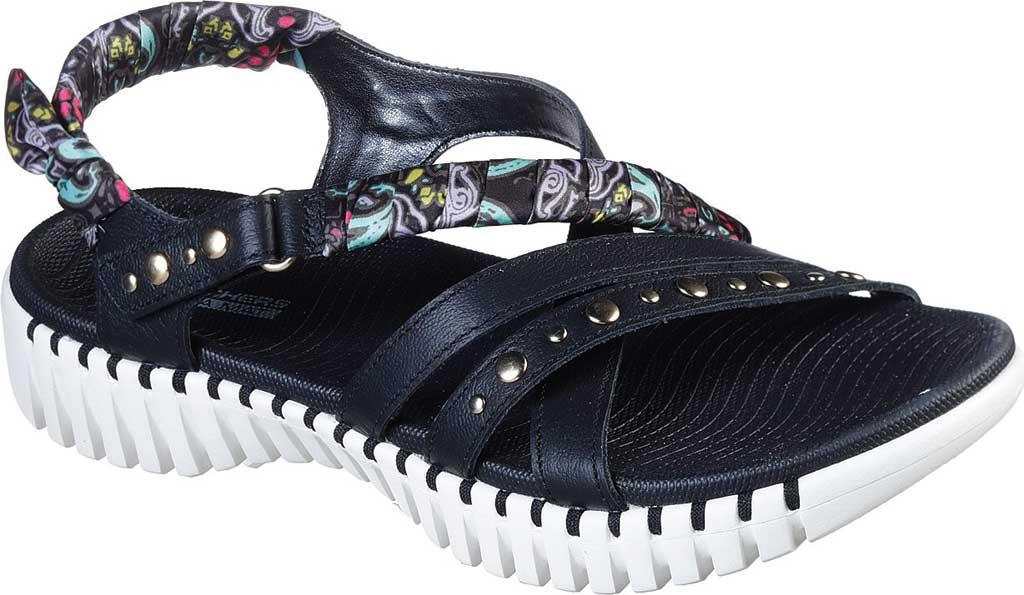 Women's Skechers GOwalk Smart Santorini Strappy Sandal, Black/White, large, image 1