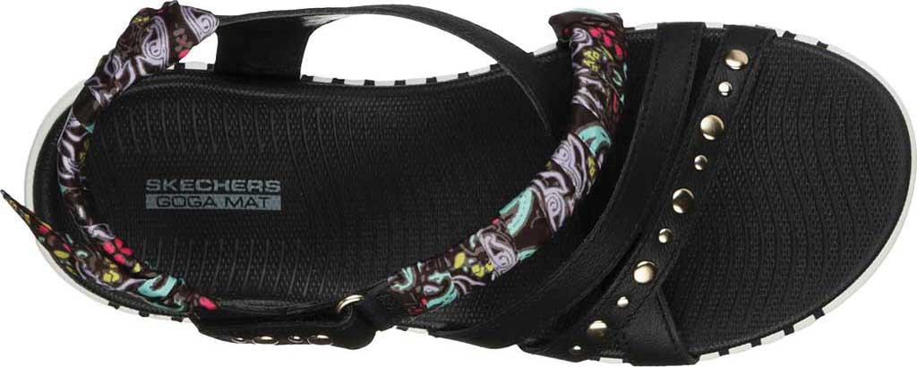 Women's Skechers GOwalk Smart Santorini Strappy Sandal, Black/White, large, image 3
