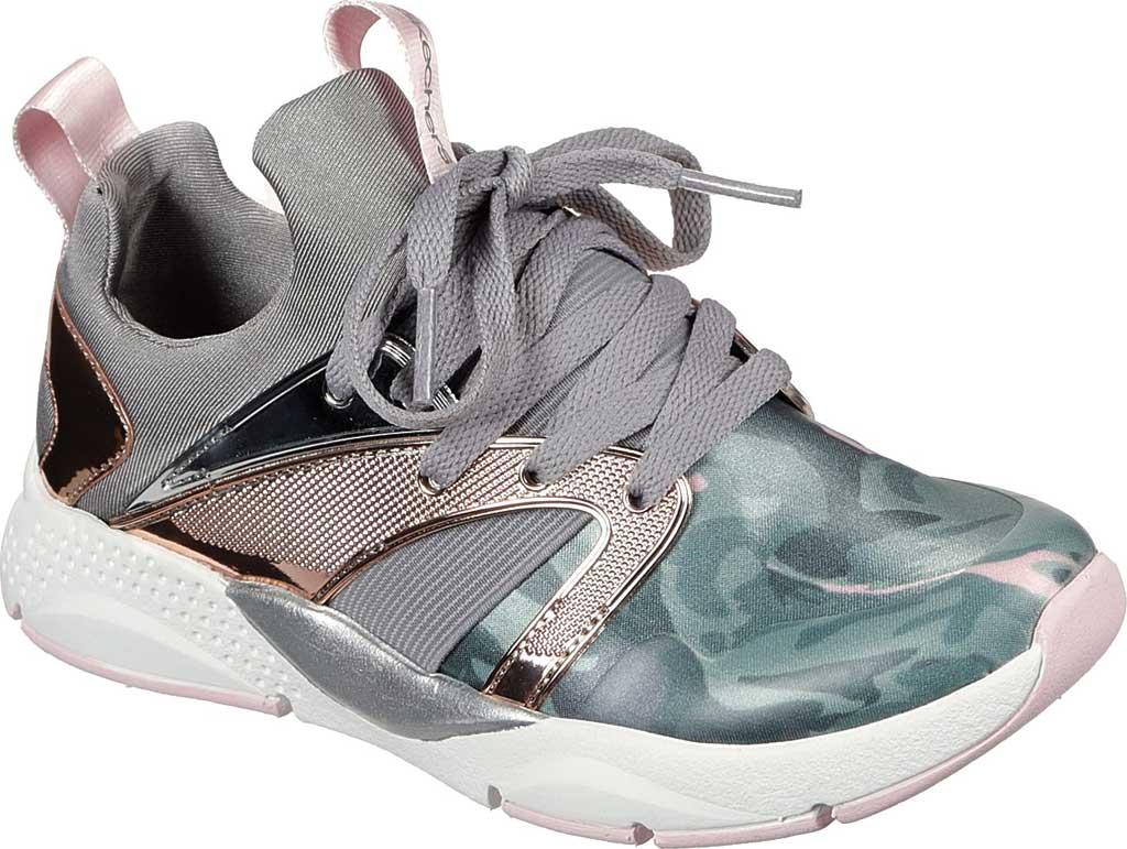 Girls' Skechers Shine Status Hint of Wild Sneaker, Camouflage, large, image 1