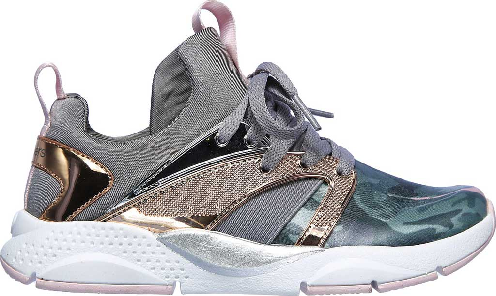 Girls' Skechers Shine Status Hint of Wild Sneaker, Camouflage, large, image 2