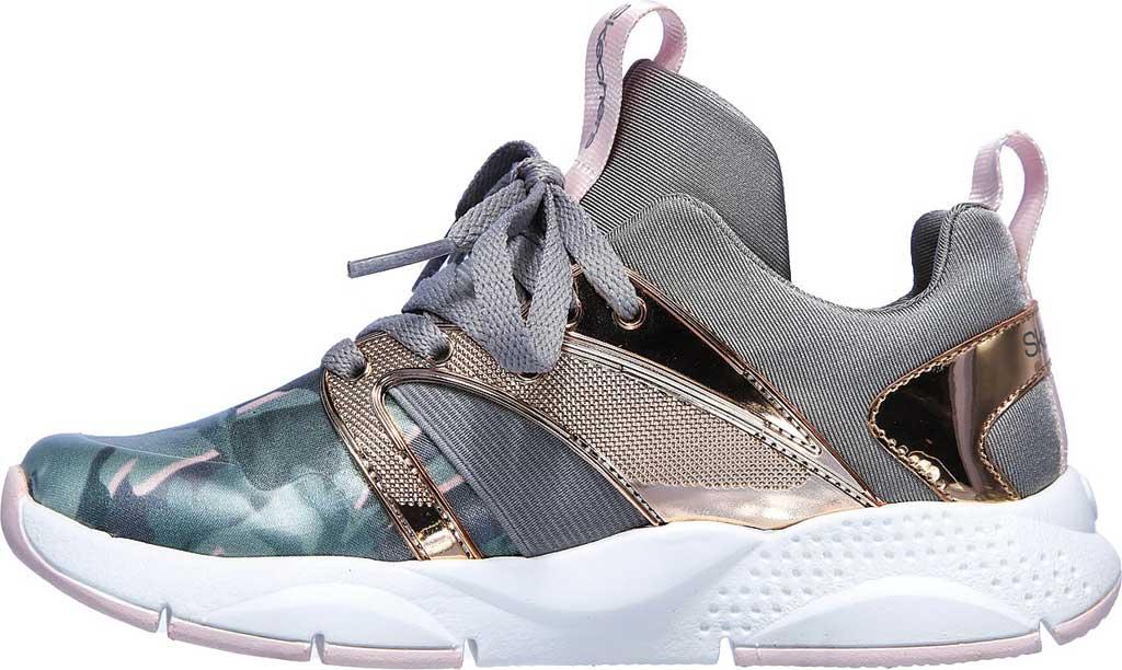 Girls' Skechers Shine Status Hint of Wild Sneaker, Camouflage, large, image 3