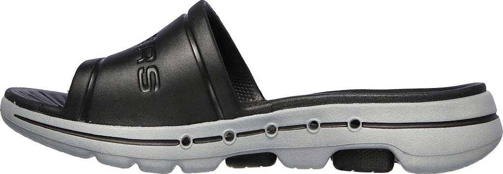 Men's Skechers Foamies GOwalk 5 Surf's Out Slide, Black/Gray, large, image 3