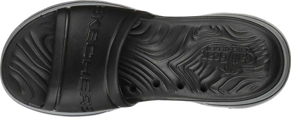 Men's Skechers Foamies GOwalk 5 Surf's Out Slide, Black/Gray, large, image 4