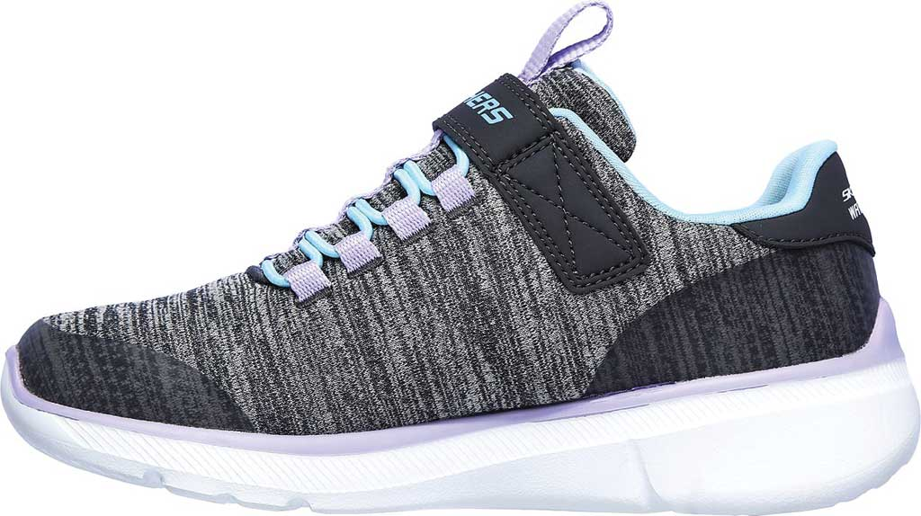 Girls' Skechers Relaxed Fit Equalizer 3.0 Mbrace Sneaker, Charcoal/Aqua, large, image 3