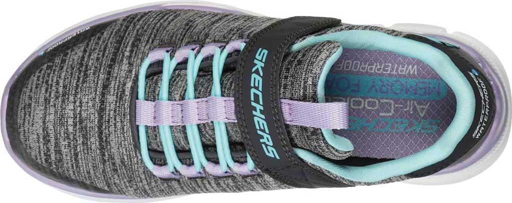 Girls' Skechers Relaxed Fit Equalizer 3.0 Mbrace Sneaker, Charcoal/Aqua, large, image 4