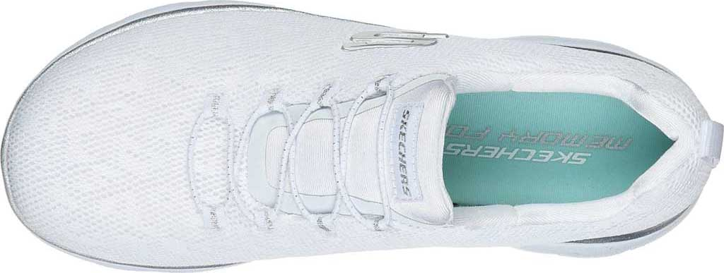 Women's Skechers Summits Leopard Spot Sneaker, White/Silver, large, image 4