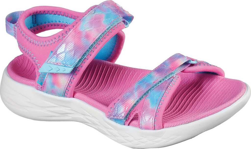 Girls' Skechers On the GO 600 Tide Turner Sport Sandal, Pink/Multi, large, image 1