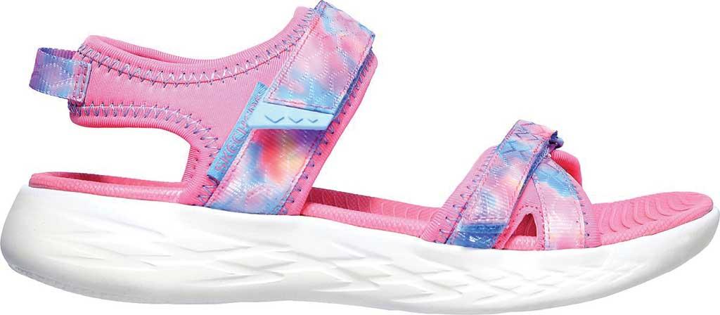 Girls' Skechers On the GO 600 Tide Turner Sport Sandal, Pink/Multi, large, image 2