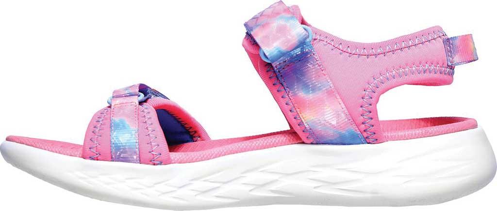 Girls' Skechers On the GO 600 Tide Turner Sport Sandal, Pink/Multi, large, image 3