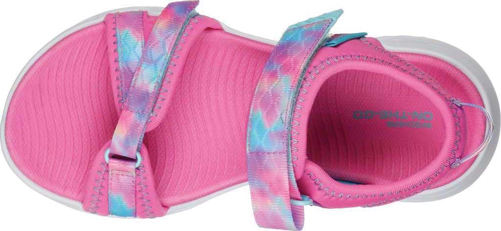 Girls' Skechers On the GO 600 Tide Turner Sport Sandal, Pink/Multi, large, image 4