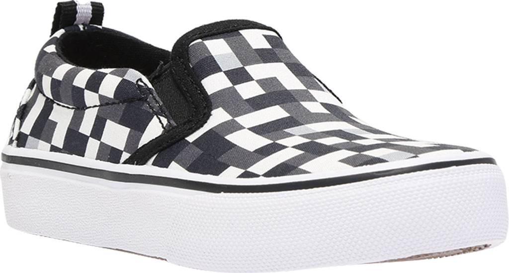 Boys' Skechers Skech-Craft Street Fame Slip-On, White/Black, large, image 1