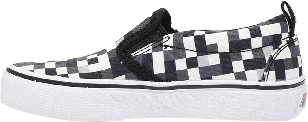 Boys' Skechers Skech-Craft Street Fame Slip-On, White/Black, large, image 3