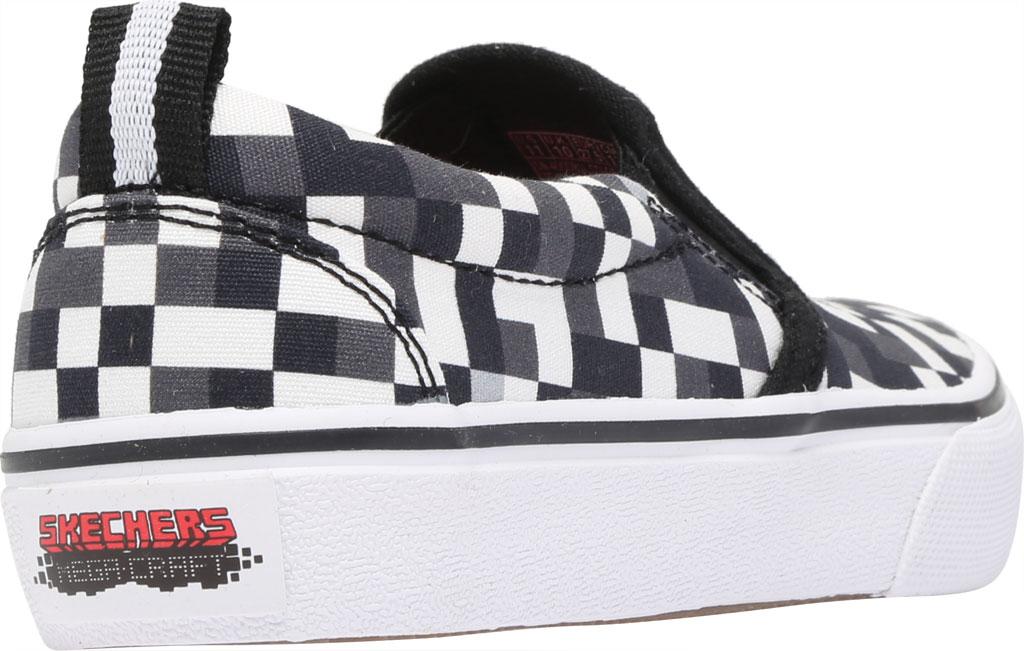 Boys' Skechers Skech-Craft Street Fame Slip-On, White/Black, large, image 4