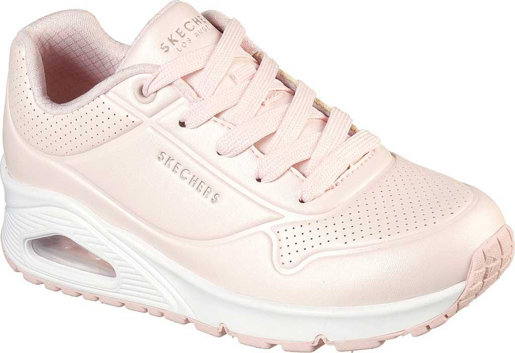 Girls' Skechers Uno Pearl Sneaker, Light Pink, large, image 1