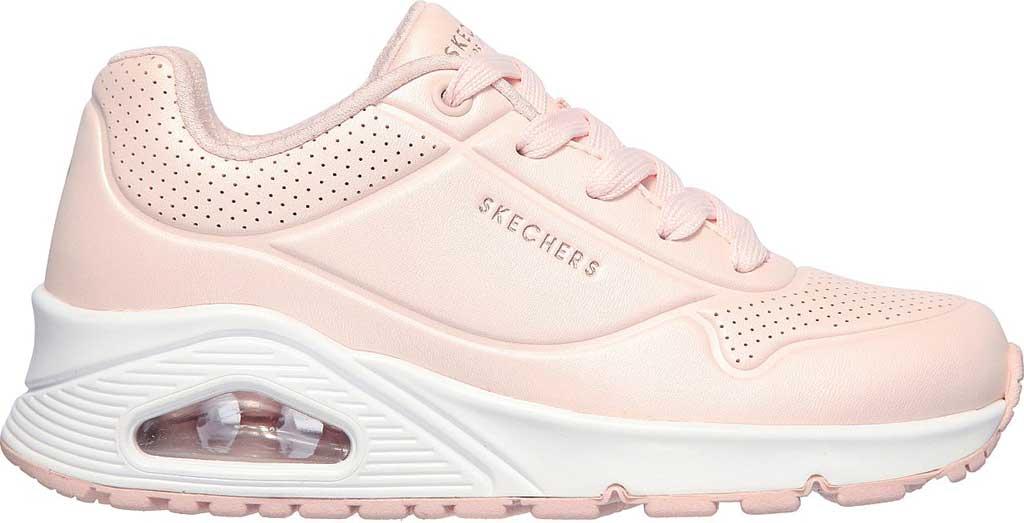 Girls' Skechers Uno Pearl Sneaker, Light Pink, large, image 2