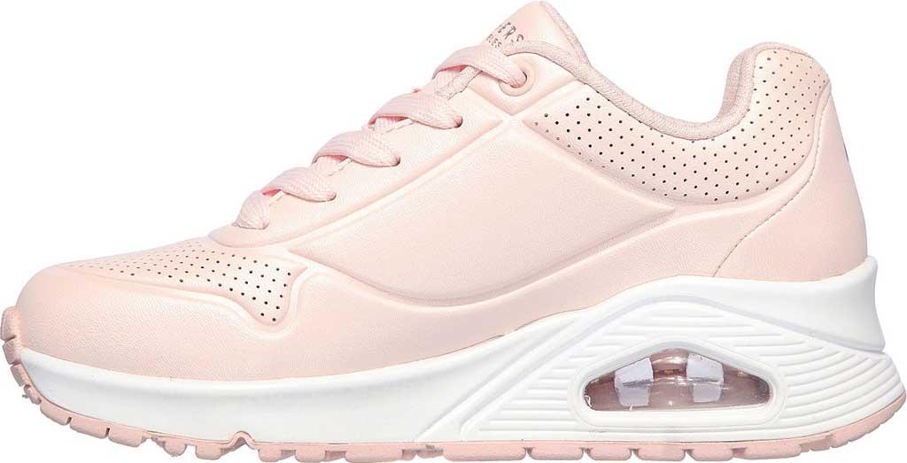Girls' Skechers Uno Pearl Sneaker, Light Pink, large, image 3