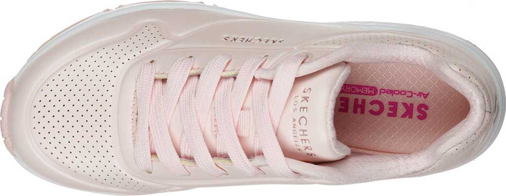 Girls' Skechers Uno Pearl Sneaker, Light Pink, large, image 4