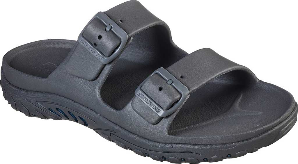 Men's Skechers Foamies Reggae Waller Two Band Slide, Gray, large, image 1