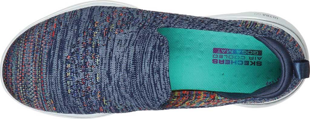 Women's Skechers GoWalk 5 Mirage Slip On Sneaker, Navy/Multi, large, image 4