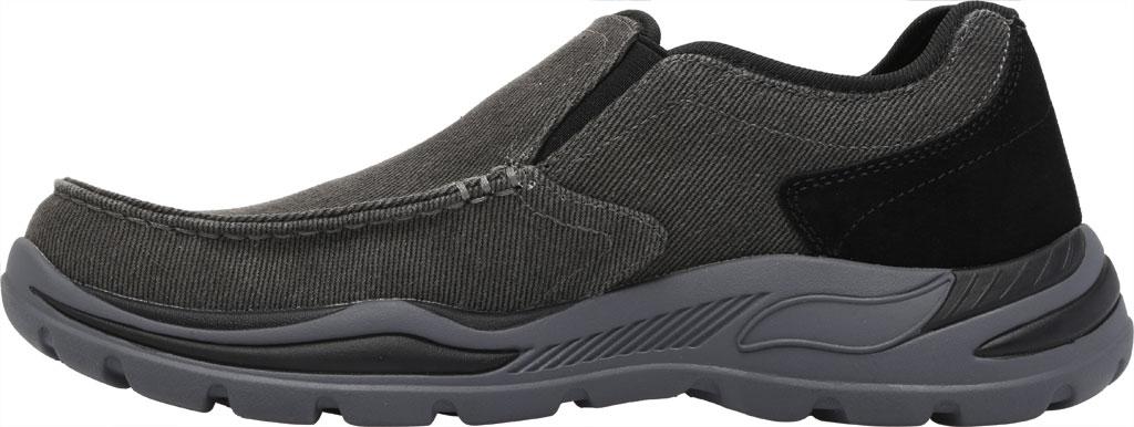 Men's Skechers Arch Fit Motley Rolens Moc Toe Slip On, Black, large, image 3