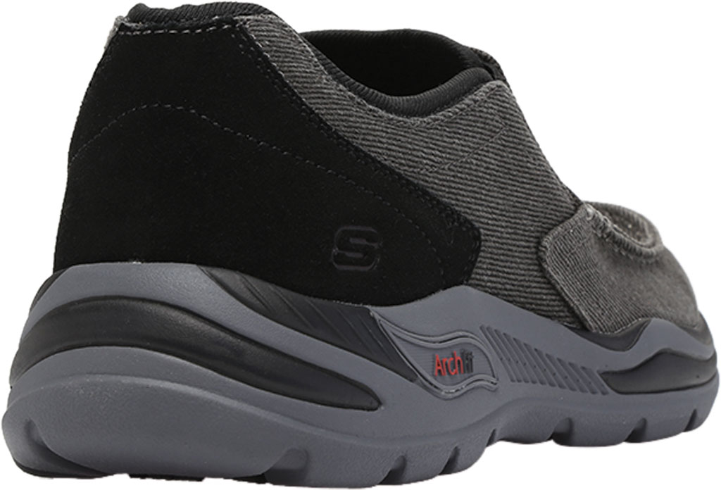 Men's Skechers Arch Fit Motley Rolens Moc Toe Slip On, Black, large, image 4