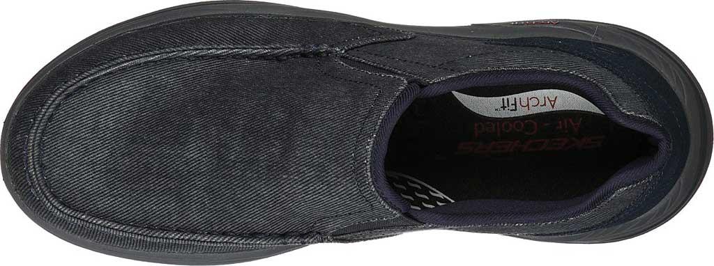 Men's Skechers Arch Fit Motley Rolens Moc Toe Slip On, Navy, large, image 4
