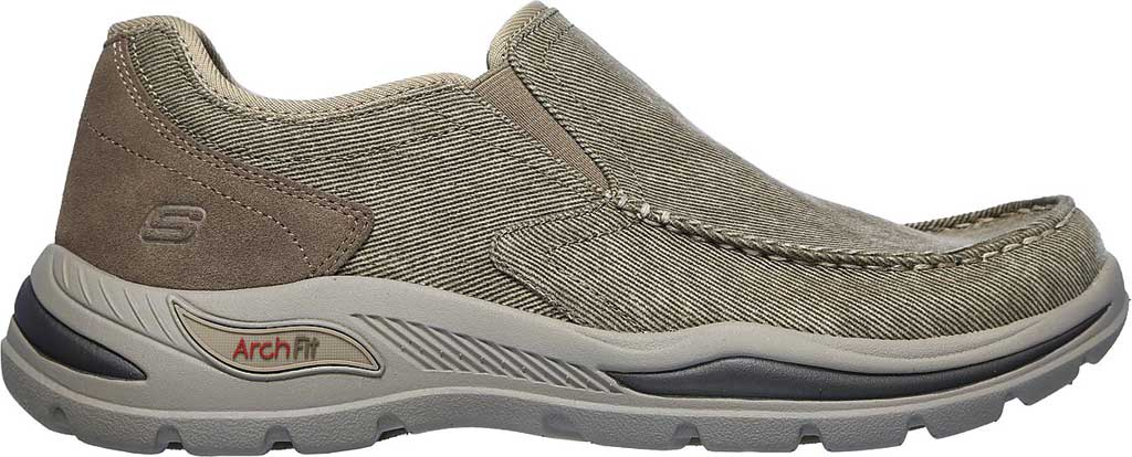 Men's Skechers Arch Fit Motley Rolens Moc Toe Slip On, Tan, large, image 2