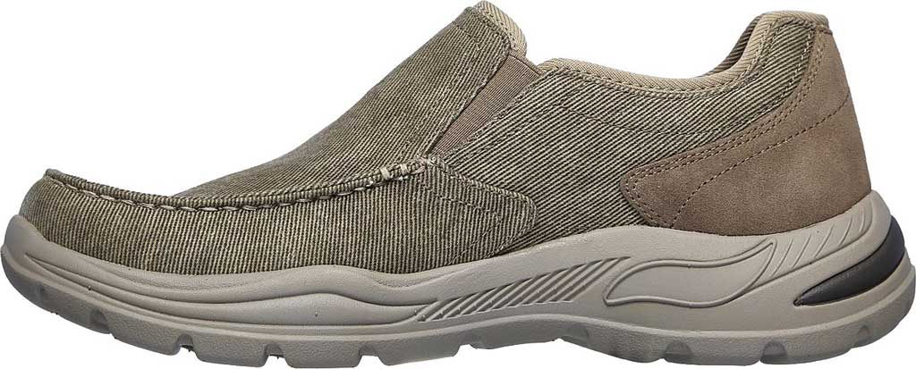 Men's Skechers Arch Fit Motley Rolens Moc Toe Slip On, Tan, large, image 3