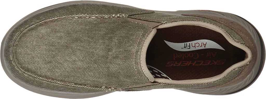 Men's Skechers Arch Fit Motley Rolens Moc Toe Slip On, Tan, large, image 4