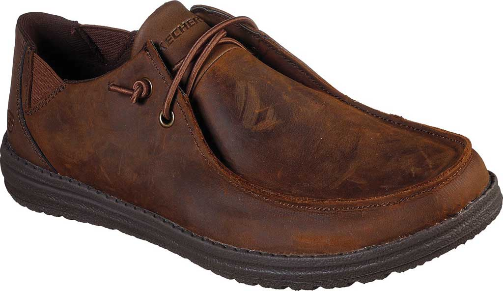 Men's Skechers Relaxed Fit Melson Ramilo Moc Slip On, Chocolate Dark Brown, large, image 1