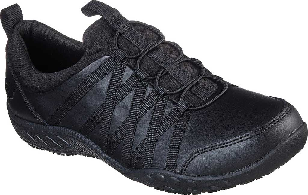 Women's Skechers Work Rodessa Dowding SR Sneaker, Black, large, image 1