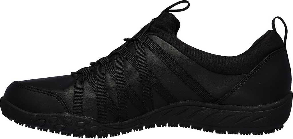 Women's Skechers Work Rodessa Dowding SR Sneaker, Black, large, image 3