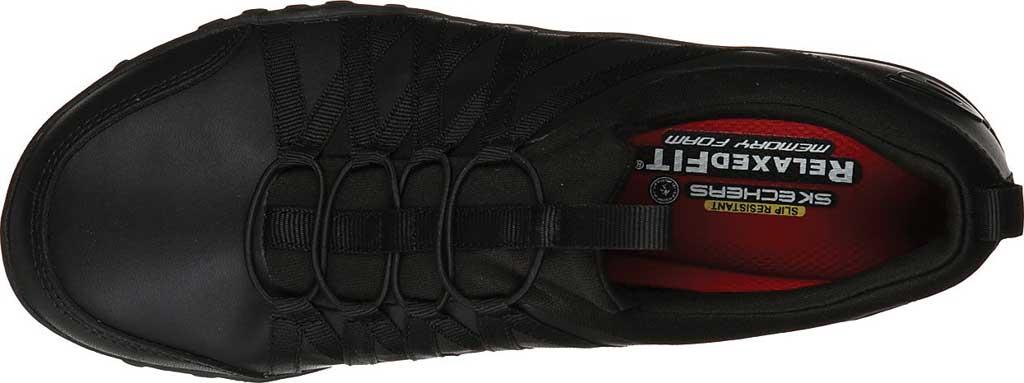 Women's Skechers Work Rodessa Dowding SR Sneaker, Black, large, image 4