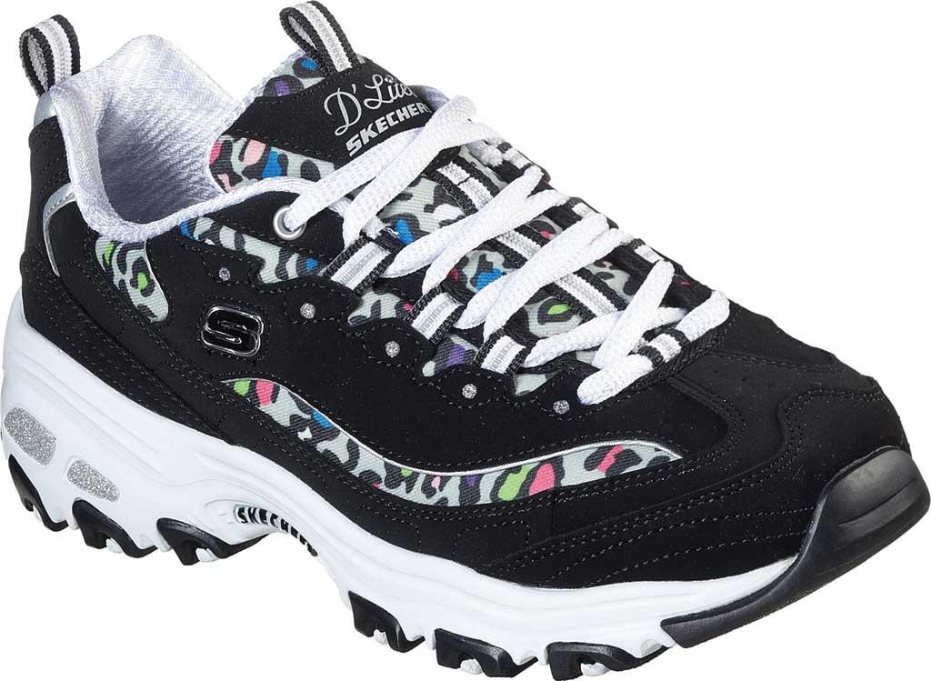Women's Skechers D'Lites Safari Landscape Sneaker, Black/Multi, large, image 1