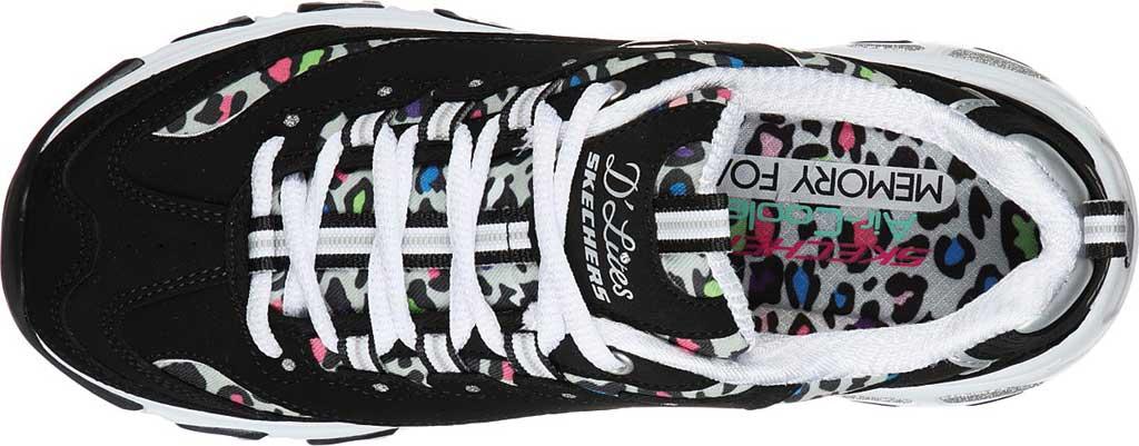 Women's Skechers D'Lites Safari Landscape Sneaker, Black/Multi, large, image 4