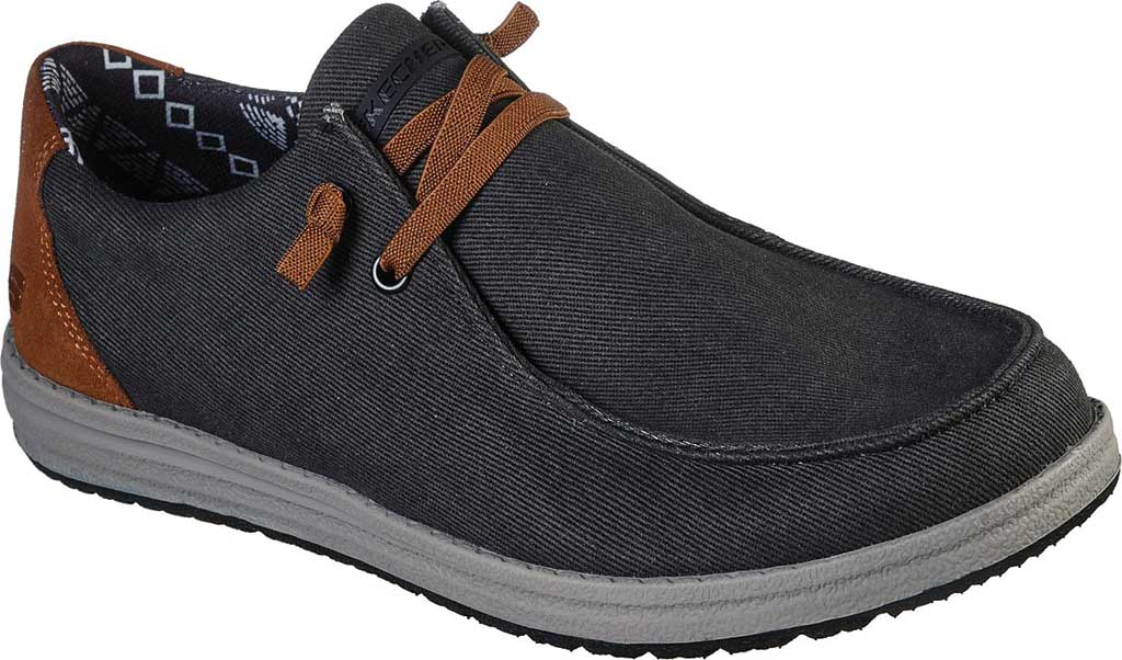 Men's Skechers Relaxed Fit Melson Parlen Chukka Boot, Black, large, image 1