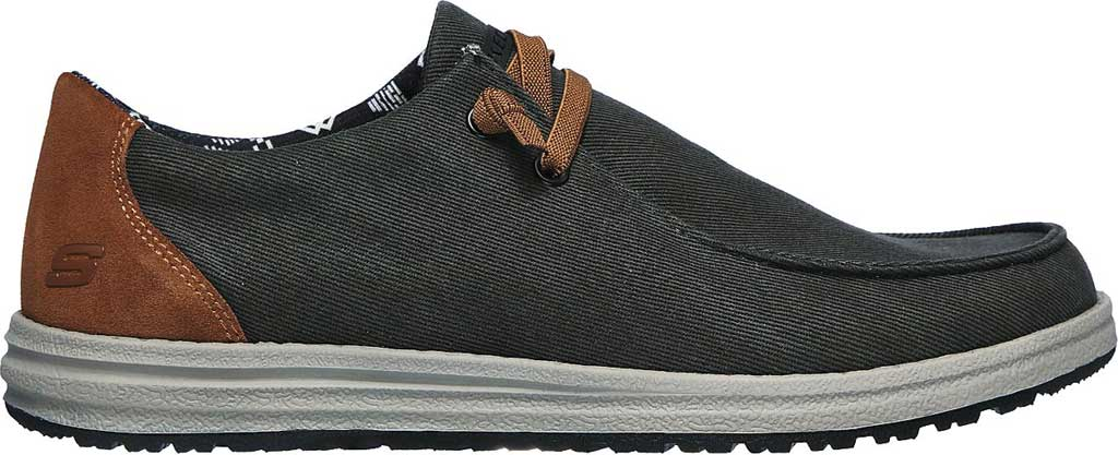 Men's Skechers Relaxed Fit Melson Parlen Chukka Boot, Black, large, image 2