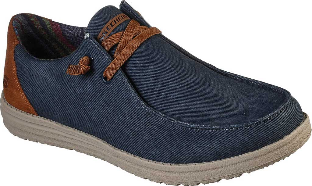Men's Skechers Relaxed Fit Melson Parlen Chukka Boot, Navy, large, image 1