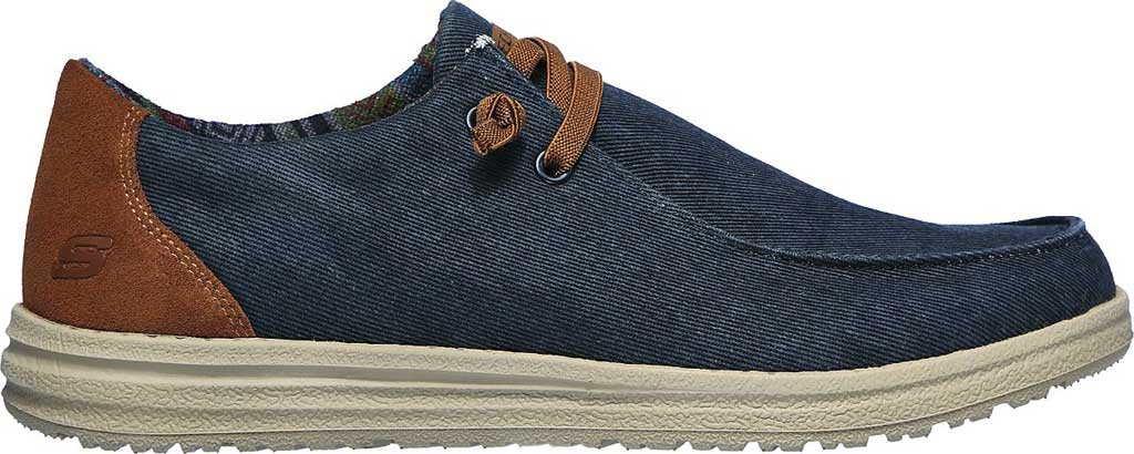 Men's Skechers Relaxed Fit Melson Parlen Chukka Boot, Navy, large, image 2