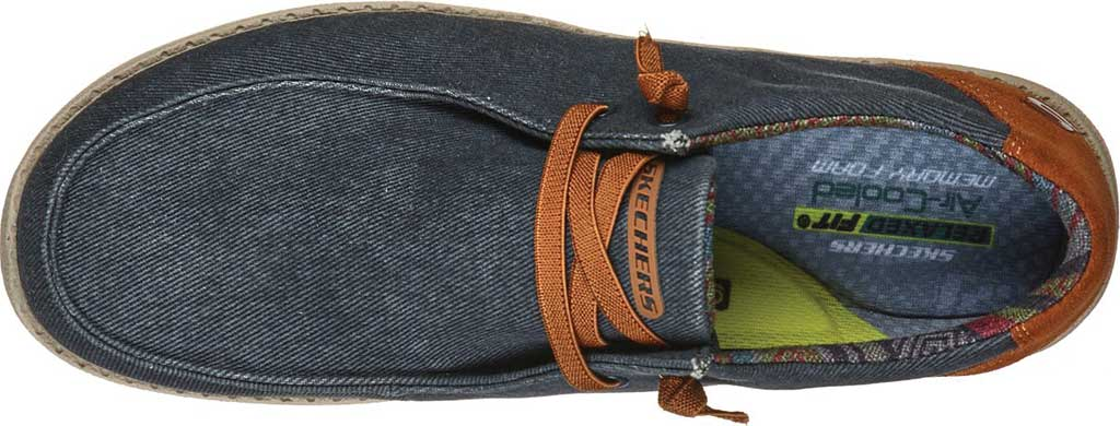Men's Skechers Relaxed Fit Melson Parlen Chukka Boot, Navy, large, image 4