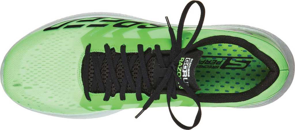 Men's Skechers GOrun Razor 3 Hyper Running Sneaker, Lime/Black, large, image 4
