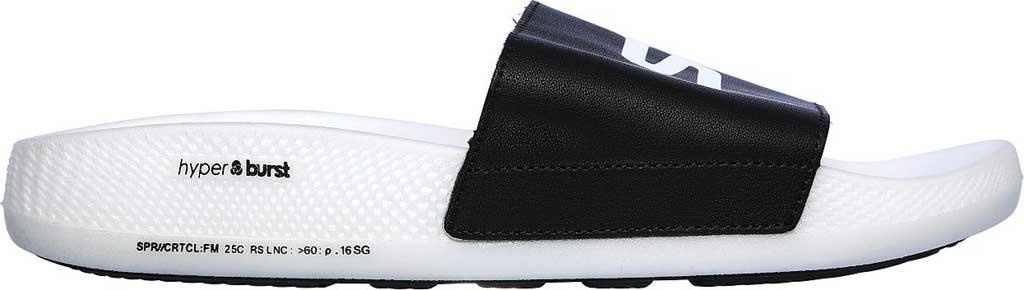 Men's Skechers Hyper Slide, Black/White, large, image 2