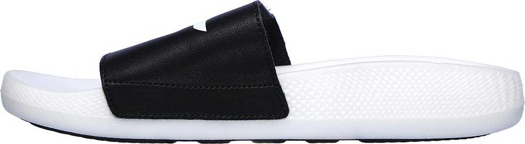 Men's Skechers Hyper Slide, Black/White, large, image 3