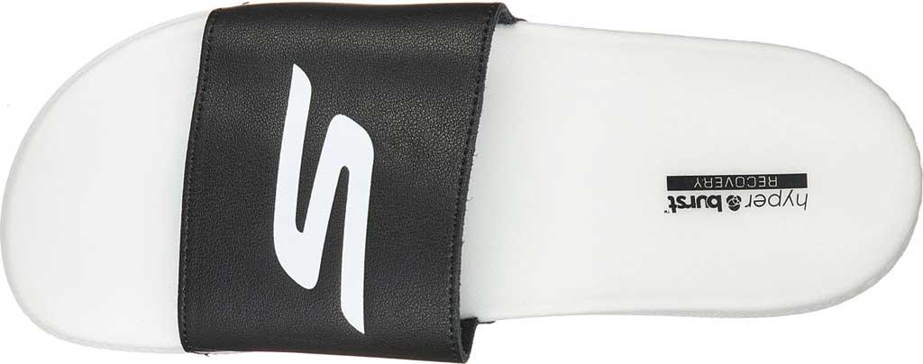 Men's Skechers Hyper Slide, Black/White, large, image 4