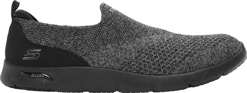 Women's Skechers Arch Fit Refine Don't Go Slip-On, Black/Charcoal, large, image 2
